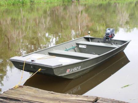 2009 Alumacraft Riveted 15 42 Flat Jon Boat For Sale