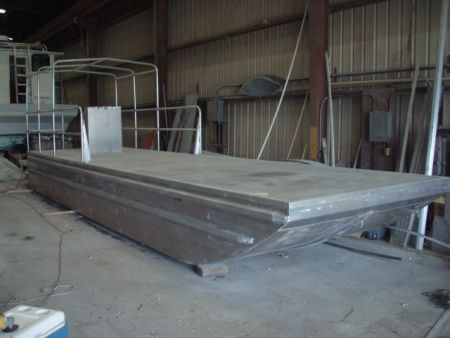 2010 Aluminum Deck Barge Deck Boat For Sale in Southeast