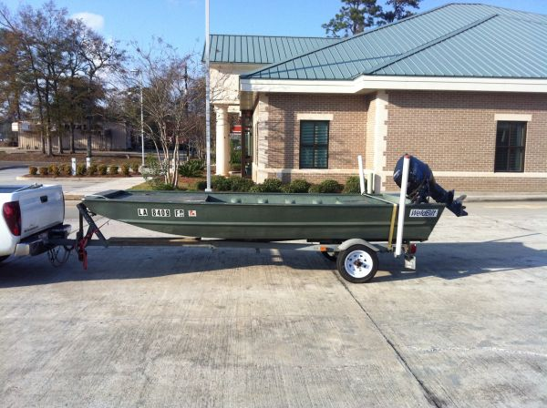 2008 2008 14ft Weldbilt allwelded flatboat 40hp Flat / Jon