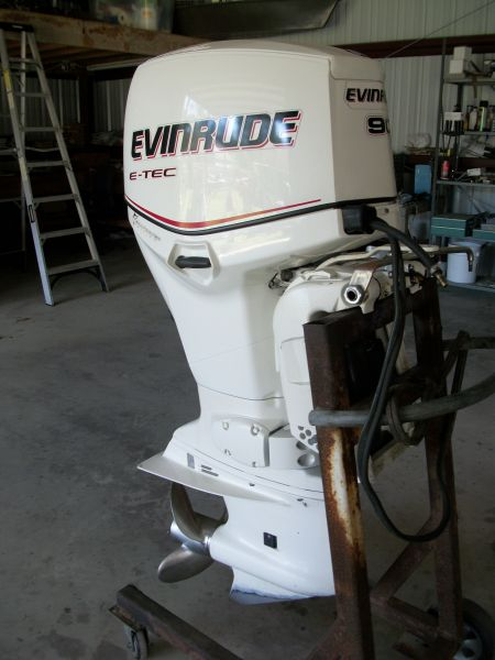 2006 90 HP Evinrude ETec Outboard Motors For Sale in
