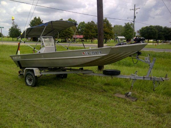 2003 Alweld Aluminum Semi-V Boat (No motor, Just hull) Boats Other