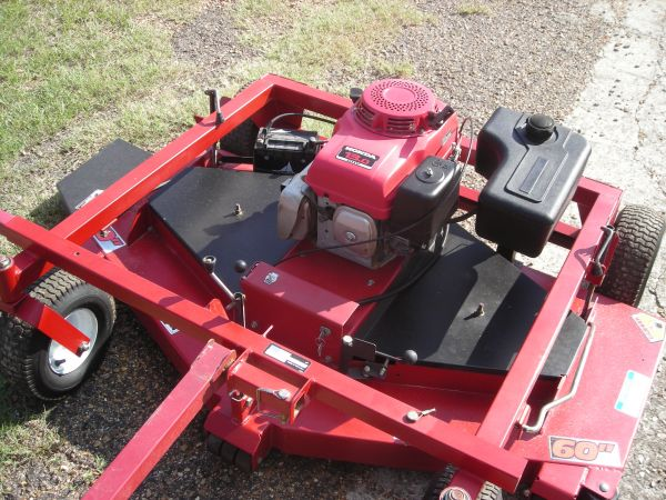 Swisher 60' Pull Behind ATV trail / lawn mower 13 HP Honda e