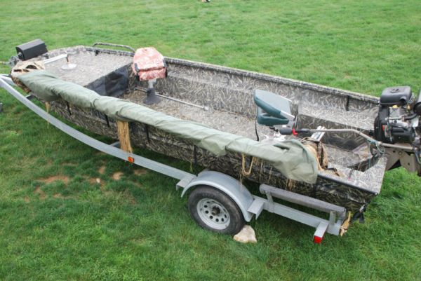 Duck Hunting Boats For Sale >> 2008 Excel Mud Buddy 18 Foot Duck Hunting Boat Duck Boat For Sale In