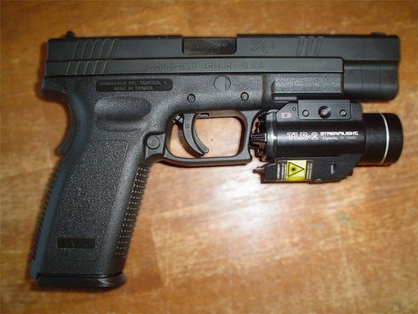 Springfield XD 45 Tactical & TLR-2 Light/Laser - $500