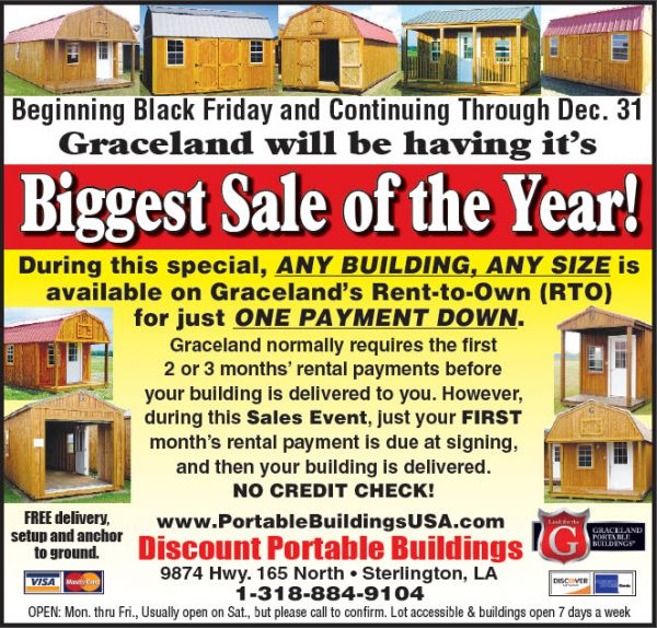 Lowest prices of the year on Graceland Portable - Louisiana
