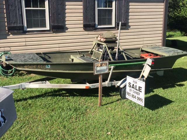 Mud Boats For Sale >> 2010 Aluminium Mud Boat Duck Boat For Sale In Louisiana Louisiana