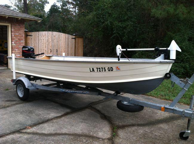 14 ft Boat w/ 25 hp Outboard - Louisiana Sportsman