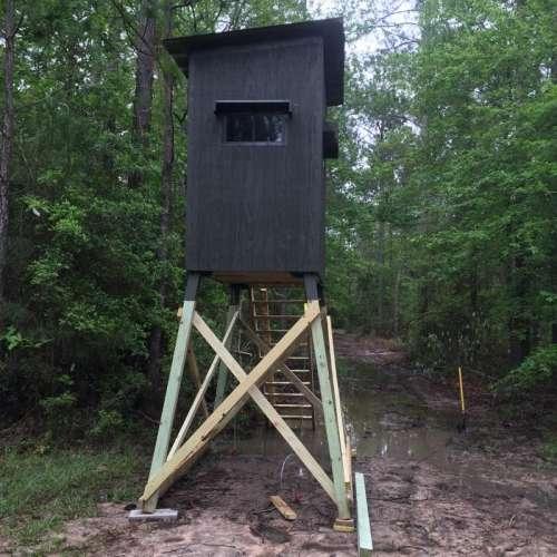 Deer Blind Stand Treehouse Elevator Brackets Louisiana Sportsman