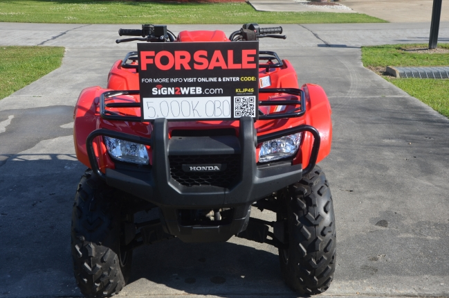 Used Honda Four Wheelers For Sale >> 2013 Honda Foreman 4 Wheeler Atv Four Wheeler For Sale In