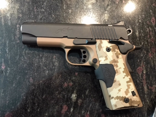 kimber 1911 pro carry, ceroted, w/crimson trace laser grip