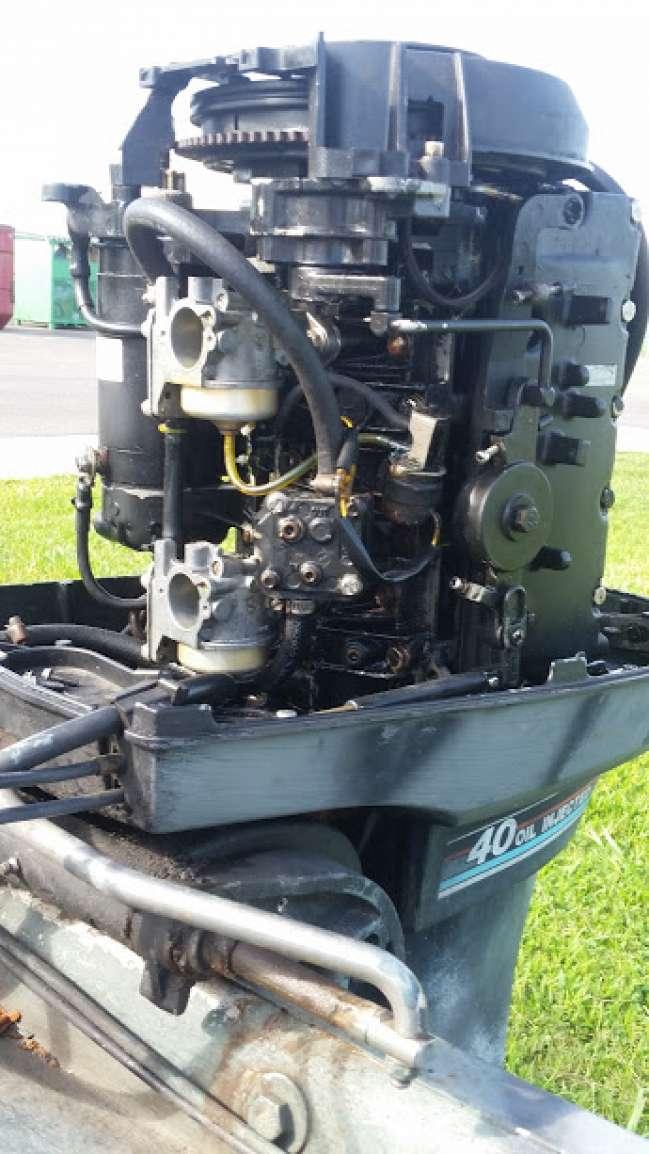 Mercury 40 hp 2 stroke 4 cylinder dual carb - Louisiana Sportsman