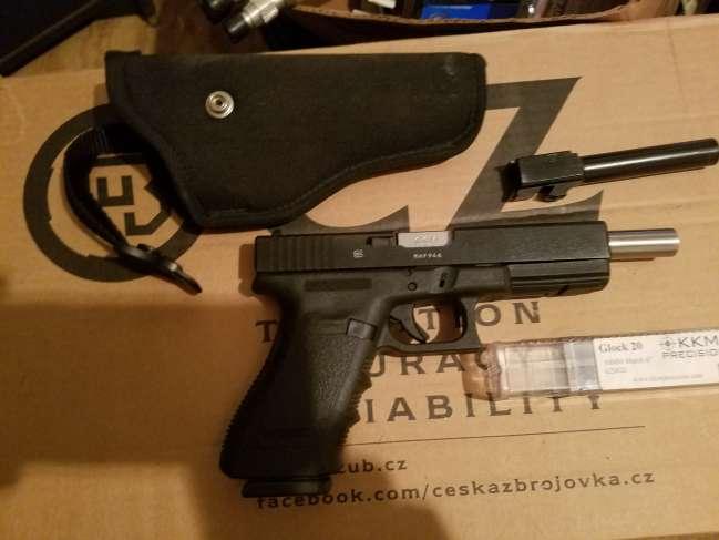 Glock 20 Gen 3 10mm Pistol + KKM 6' Barrel Exc  FS