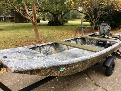 NEW PRICE! 14ft Aluminum Custom Boat package deal: boat, go-devil