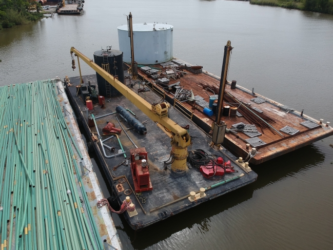 110\\\'X30\\\'X7\\\' DECK BARGE (CRANE BARGE) OFFSITE ITEM Located