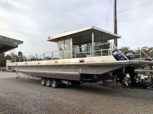 2018 Gaudet Aluminum V-Bottom Deck Boat For Sale in Louisiana